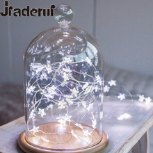 Jiaderui LED Star LED Fairy Lights Copper Wire String Lights Xmas Wedding Decoration Lights Twinkle Lights 2 x AA Battery(China)