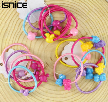 TS 50 pcs High Quality Carton Round Ball Kids Elastic Hair bands Elastic Hair Tie Children Rubber Hair Band
