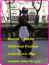 brown mustang mascot costume horse custom fancy costume anime cosplay kit mascotte theme fancy dress carnival costume 41607