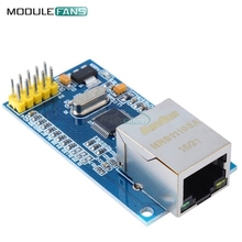 For Arduino W5500 Ethernet Network Modules For Arduino TCP/IP 51/STM32 SPI Interface 3.3V 5V I/O MCU(China)