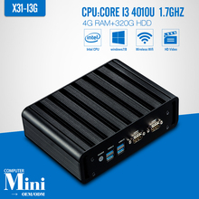 I3 4010U 4G RAM+320G HDD+WIFI 2*LAN 2*COM Desktop Computer Thin Client Support Hd Video Smallest Computer Tablet VGA/HDMI
