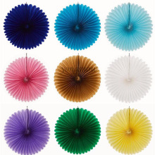 1Pcs 10cm Tissue Paper Fans Flowers Pompom Balls Round Lanterns DIY Craft Hanging Small Flower Wedding Party Decoration 9Z