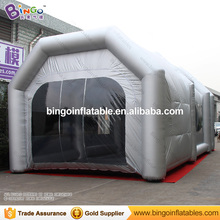 Silver Inflatable spray paint booth 9*5.2*4.1M inflatable paint booth tent for car inflatable paint booth with filtering system(China)