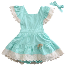 Flower Party Backless Cute Dress Girl Sundress New Summer Cute Toddler Baby Kids Girls Dresses Lace Ball 6M-4T(China)