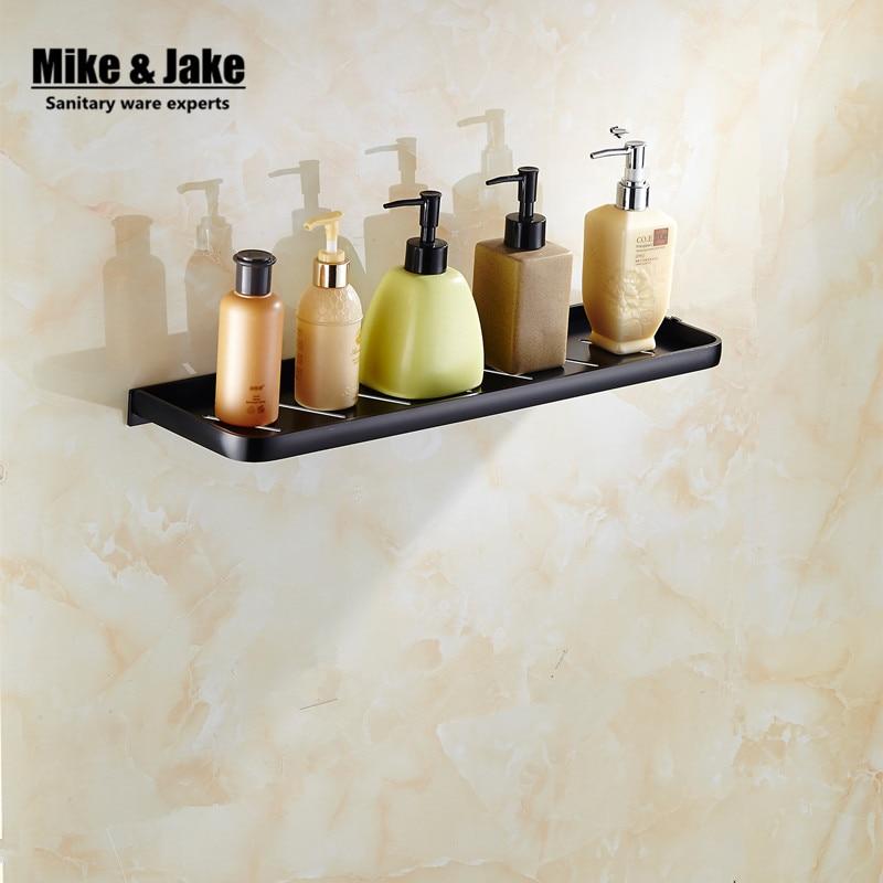 Space aluminum Black Bathroom shelf cosmetic rack single lever bathroom rack shelf Households Rack bathroom Holder MH6008<br>