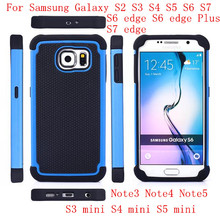 Rugged Rubber Shockproof phone cases for Samsung Galaxy S2 3 4 5 6 7 edge plus Note 3 4 5 S3 4 5 mini protective cover football