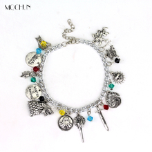 MQCHUN Game Of Thrones Charm Bracelet The House Banners 7 Kingdom Nights Watch Dragons Stark Bracelets Fans Christmas Party Gift