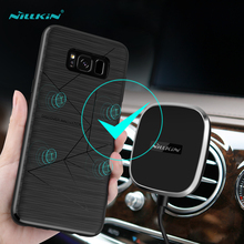 Nillkin QI wireless receiver transmitter Back Cover For Samsung galaxy s8 Plus case suitable for Magnetic Phone Holder 6.2 inch