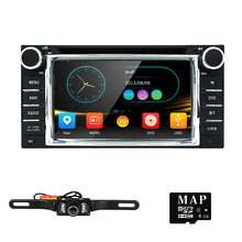 2Din GPS DVD Player for RAV4 CAMRY COROLLA Navimap Radio support BT/SWC/Rear camera/Subwoofer fit for TOYOTA with LED Backup Cam(China)