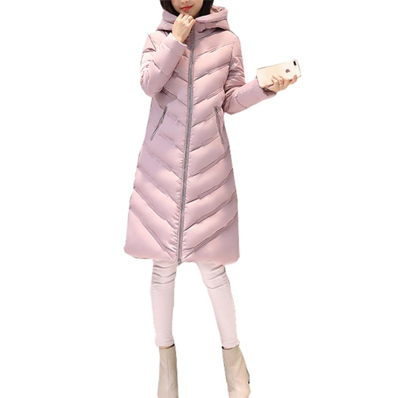 2017 Warm Women Hooded Parkas Overcoat Long Coats Slim Windbreaker Winter Jacket Female Feminina Parka Outerwear Plus Size GV935Îäåæäà è àêñåññóàðû<br><br>
