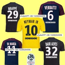2017 2018 new Thailand quality player at home and out Jerseys THIRD black Jerseys PSG 17 18(China)