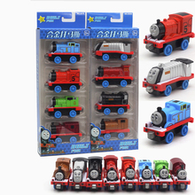 4Pcs Train Set The Engine Metal Magnetic Car Alloy Vehicles Model Toy For Children Car Mini Tractor Cars Miniatures China Gift