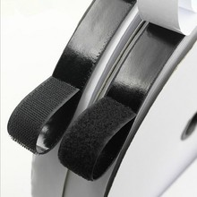2 Rolls 2cm*5m Black Hook and Loop Self Adhesive Fastener Strong Tape Hook and Loop adesivo sugru Tape Velcro adhesive
