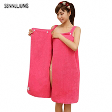 Women Bath Towel Wearable Microfiber Fabric Beach Towel Rose Red Soft Wrap Skirt Towels Super Absorbent Home Textile Hot Sale(China)