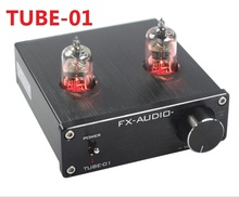 2017 New FX-AUDIO TUBE-01 Mini Audio Preamps Tube Amplifier Buffer 6J1 HIFI DAC Audio Pre amplifier DC12V/1A Red LED Tube Lamps