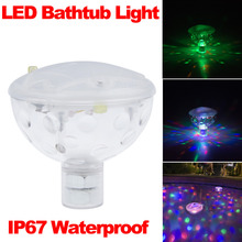 Fashion Color LED Underwater Light Float Spa Bathtub Pond Swimming Pool LED Light Disco Holiday Indoor Lighting IP67 Waterproof
