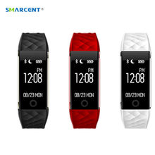 S2 Bluetooth Smart Band Wristband Heart Rate Monitor IP67 Waterproof Smartband Bracelet For Android IOS Phone pk xiao mi band 2(China)