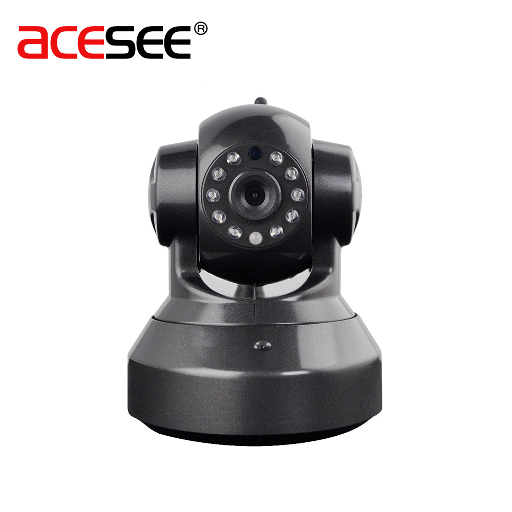 ACESEE 1MP WIPAS100 3.6mm Lens Micro IP Camera Wifi Home Surveillance CCTV Audio Speaker Cameras Alarm System Wireless Mini Cam<br>