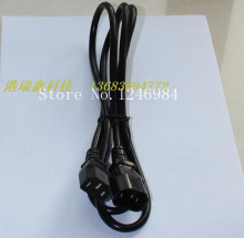 [SA]1.5 m long power cord 250V10A black male and female butt extension cable 3 * 0.75MM--50pcs/lot