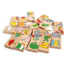 The solitaire puzzle domino authentic mini animals Can children's creative strange new toy can be placed on the stand