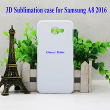For samsung galaxy A8 2016 3D  sublimation blank plastic case cover sheet Full Area Printed without metal inserts, 100pcs/lot