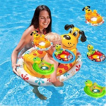 Hot Sale High Quality Inflatable Baby Float Seat Boat Tube Ring Car Sun shade Water Swim Swimming Pool Portable Turtle Frog Dog