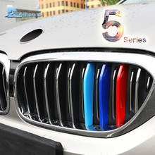 Airspeed Car Front Grill Stripes Covers for BMW 5 Series GT F07 F10 F18 G30 G38 E60 Motorsport Decors Trim Stickers Car-styling(China)