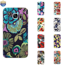 Phone Case Samsung Galaxy C5 C7 C7000 Shell S4 S6 S7 Edge Plus Back Cover Protection Soft TPU Abstract Flowers Design - WISAPI Store store