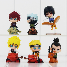 Hot Anime Naruto Q Version Naruto Sasuke Yondaime Minato Gaara Kakashi Shikamaru Cool PVC action Figure Model Toys Doll