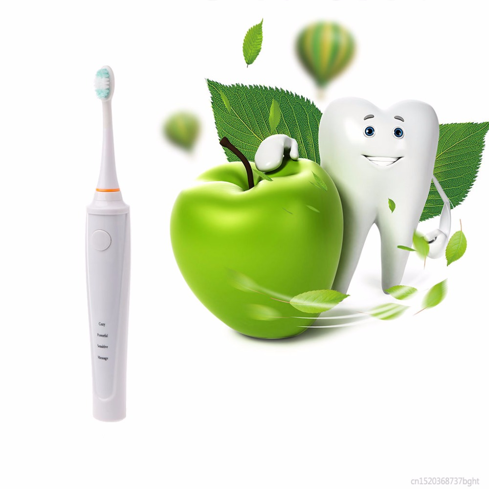 Kemei 1Set White IPX 7 Waterproof Electric Toothbrush Cleaning Modes USB Charging Power Tooth Brush<br>