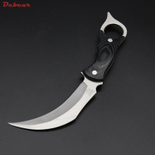 Dcbear High Quality Claw Knife Fixed Blade 440C Steel Karambit Knife Hunting Survival Tools Outdoor Tops Knife EDC F004#
