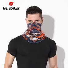 HEROBIKER Motorcycle Face Mask Keep Warm Motorcycle Ski Mask Winter Protect the Neck Half Face Mask Two Color(China)