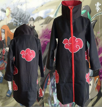 Akatsuki Cloak Anime Naruto Sasuke Itachi Uchiha Obito Red Clouds Free Shipping