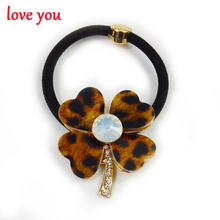 3 colors for choose leopard clover style hairbands for women luxury hair accessories fashion hair rope cute korea style gift