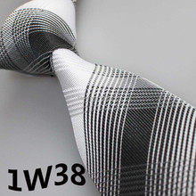 2017 Latest Style Brand Tie&Party Dress White/Black Grid Striped Design&Tie Wedding&Tie For Man&Men's Designer Ties&Neckties Men