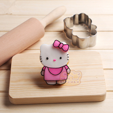 Cake Mold 1pc Stainless Steel Mousse mold For Hello kitty Cookie Cutter Press Stencil Stamp Pastry Tool Spraying Decoration H265