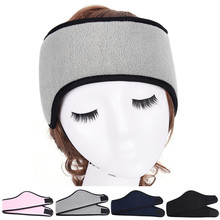 ski ear muff stretch spandex headband hair accessories unisex headwear women men ear warmer winer head bands polar fleece(China)