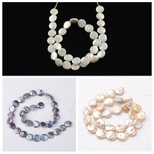 Natural Keshi Pearl Bead Strands,Flat Round,Dark Slate Blue,Flamingo,White,11~12x4~5mm, Hole: 0.8mm;about 30pcs/strand, 14.8""