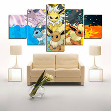2017 Canvas Wall Art Cute Pets Mass Effect Christmas Decoration Supply For Home Art Picture Unframed 5pcs Artwork Kids Room Deco