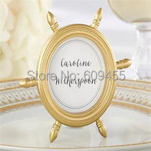 180pcs/Lot+Factory Outlet Wholesales Ship Wheel Picture Frame Place Card Holder Baby Shower Favors Birthday Gift+FREE SHIPPING(China)
