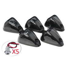 Brand New 5PCS  Smoked Lens Car Truck Trailer SUV VAN 4X4 Pickup Cab Roof Top Marker Lamp Running Light Covers