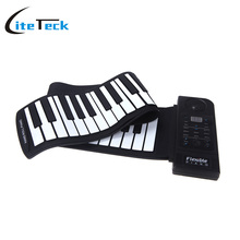 High Quality 61 Keys Electronic Piano Keyboard Silicon Material Flexible Roll Up Piano with Loud Speaker for Beginner