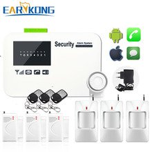 Buy English Russian Spanish French Wireless wired Home Security GSM Alarm System Relay IOS Android APP Sensor Alarm for $36.10 in AliExpress store
