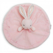 Kawaii Newborn Comfortable Sleeping Toy Rabbit Stuffed Toys Soft Velour Cute Bedtime Appease Towel Pink Beige