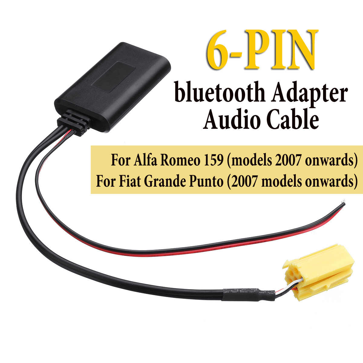 Car Stereo Mini Iso 6 Pin bluetooth Module Music Adapter Aux Audio Cable for Alfa Romeo 159 for Fiat Grande Punto