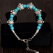 SHUANGR Stylish Turtle Cute Bracelet Green Resin Beads Charm Bracelet Handmade Accessories Fashion Jewelry