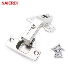 NAIERDI 135 Degree Corner Fold Cabinet Door Hinges Angle Hinge Furniture Hardware For Home Kitchen Bathroom Cupboard With Screw(China)