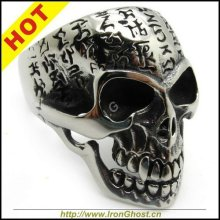 Men's Silver Lection Finger Stainless Steel Bible OX Skull Ring New Gift Wholesale USA Size 8-14(China)