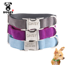 2017 Hot Sale Dog Collar Trendy Adjustable personalized Customesd Dog Collar the Dod Collar Design For Small Medium Fresh Color(China)