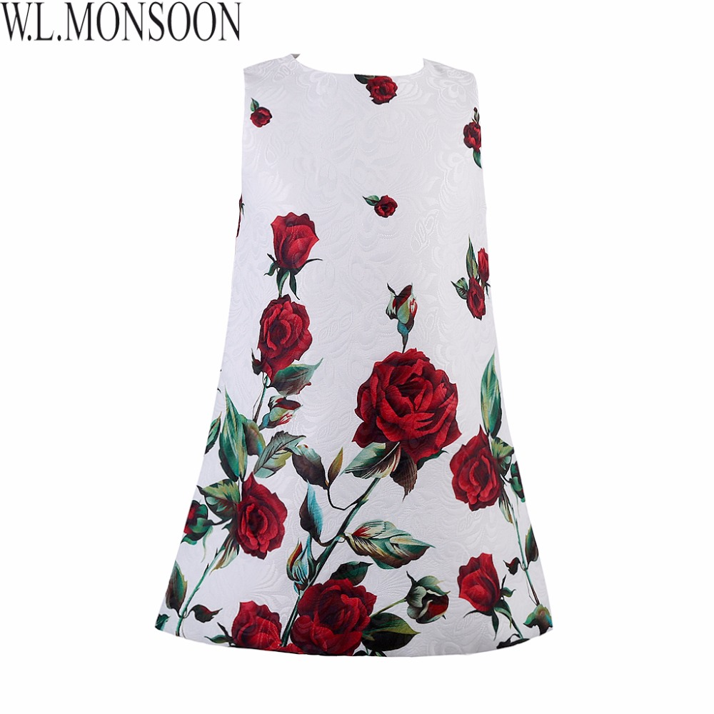Baby Girls Dresses Kids Clothes 2015 Brand Children Dress for Girls Clothes Rose Flower Dobby Princess Dress Christmas 2-10Y<br><br>Aliexpress